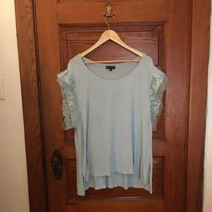 baby blue lace shirt